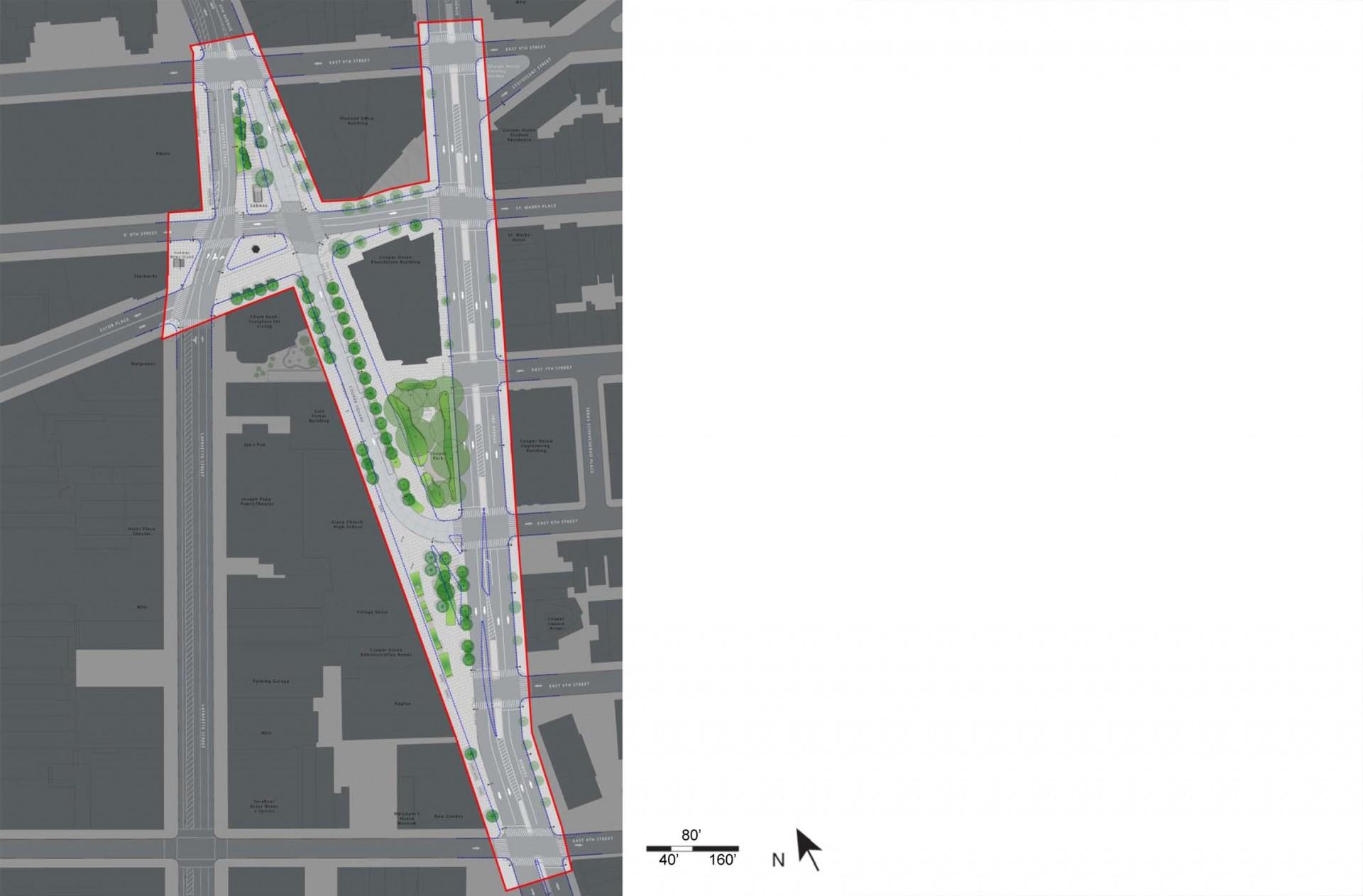 Astor Place / Cooper Square landscape architecture