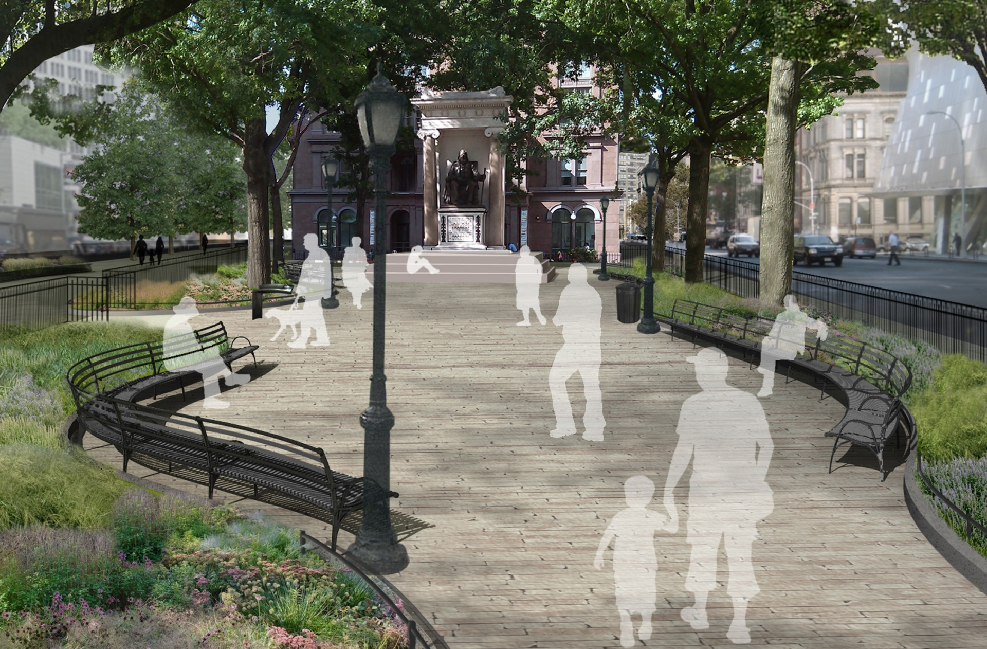 Astor Place / Cooper Square Park landscape architecture
