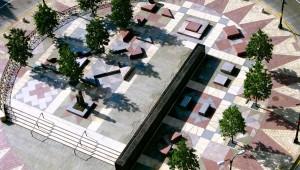 Frederick Douglass Plaza landscape architecture