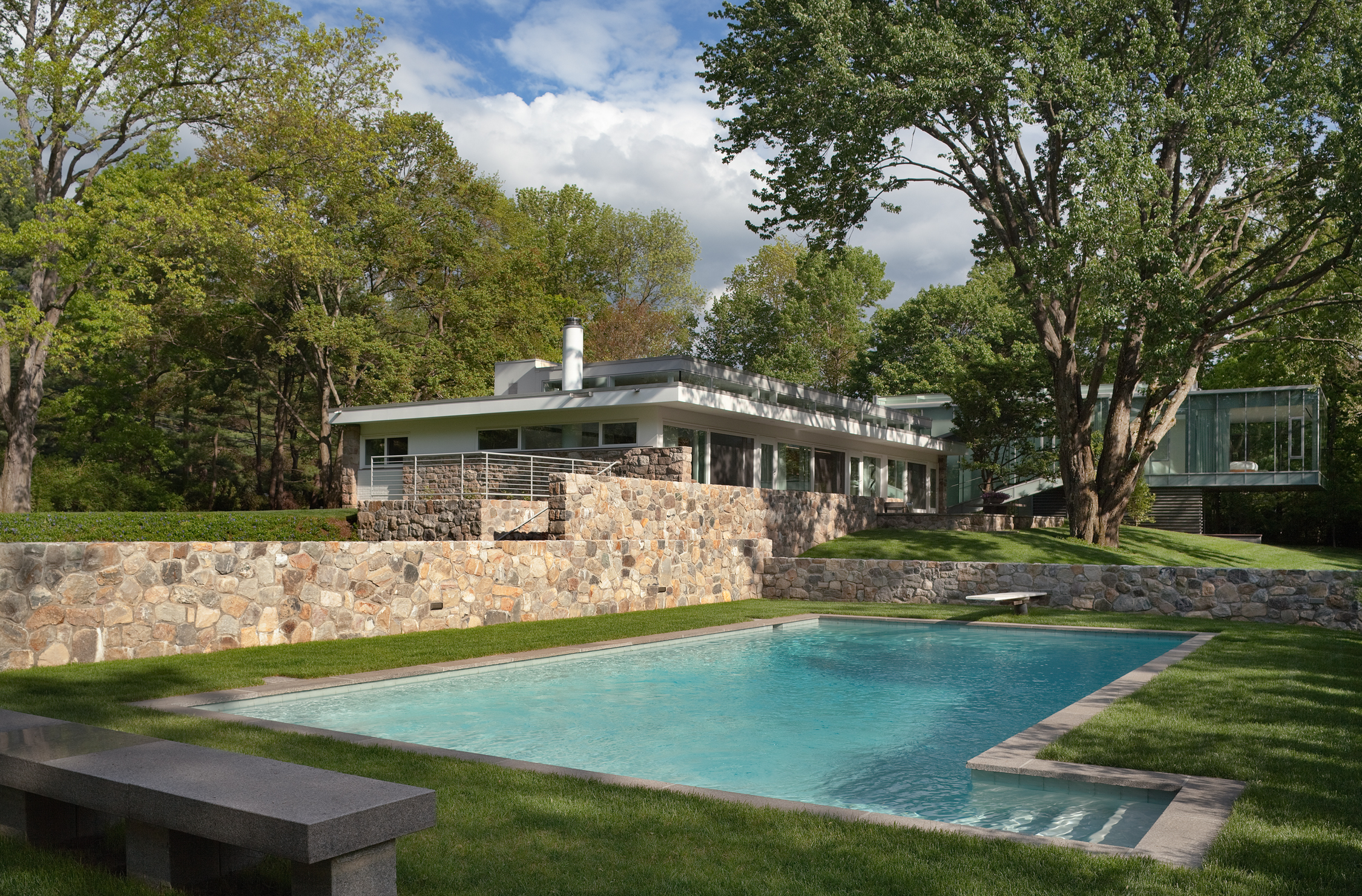 New Canaan landscape architecture residential