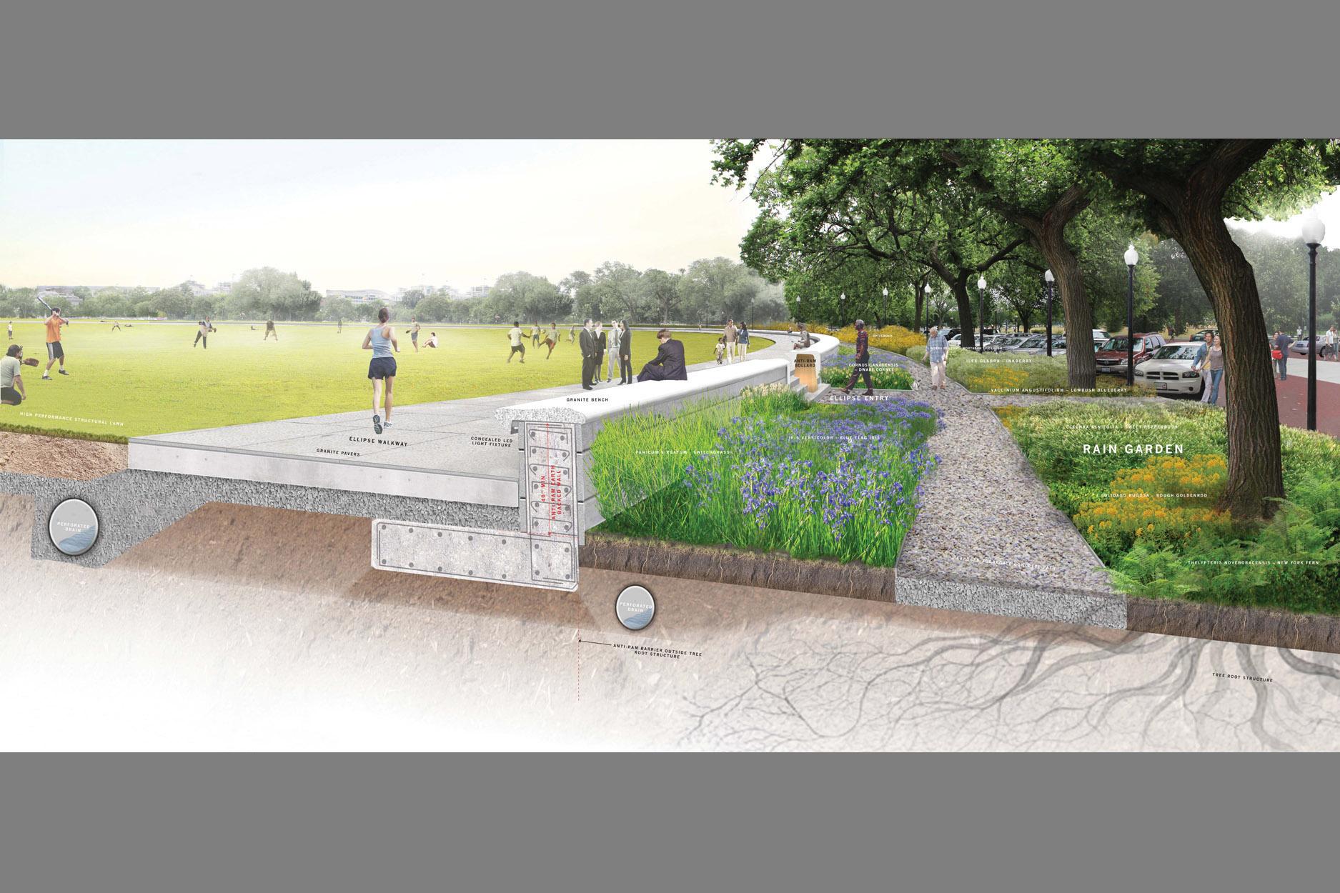 president's park south, landscape architecture