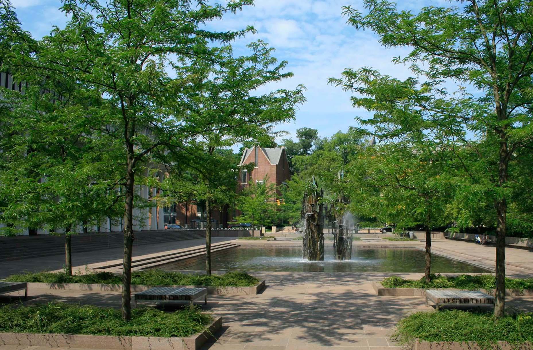 Princton University Scudder Plaza landscape architecture