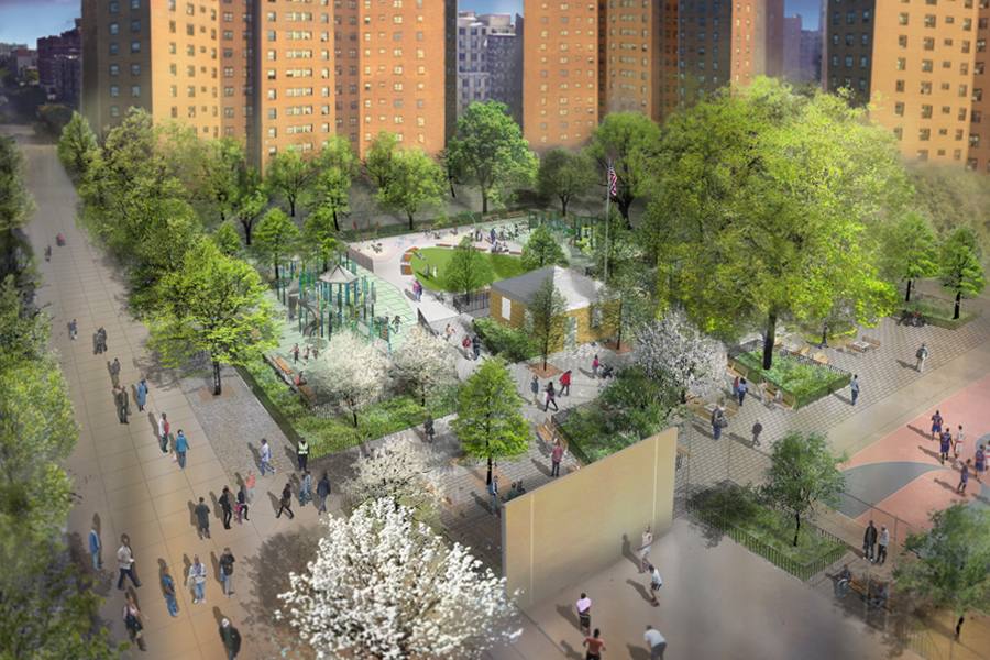 community parks initiative New York landscape architecture
