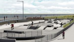 Rockaway skate park landscape architecture