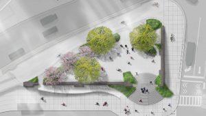 Forsyth Plaza landscape architecture