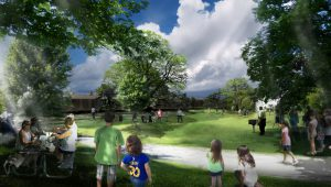 At Midland Beach, a shady picnic lawn is proposed.